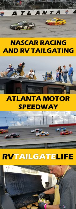NASCAR racing and RV tailgating at Atlanta Motor Speedway!