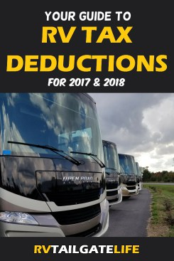 RV tax deductions can help make the tax bill a little less painful
