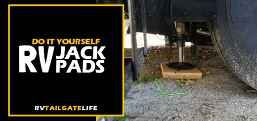 Make your own RV Jack Pads for leveling your RV while camping and protecting your jacks from mud.