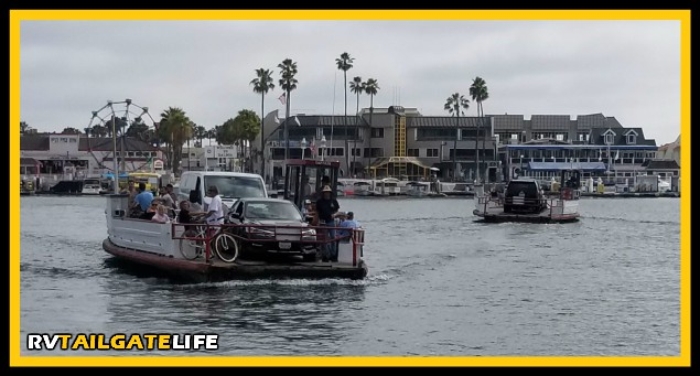 The best way to get from Newport Peninsula to Balboa Island - the Balboa Island Ferry!