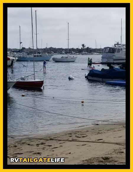 Hit the water if you are visiting Balboa Island. Whether by boat, standup paddle board, or kayak, the water is the place to be.