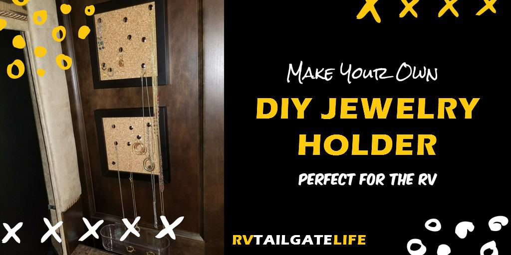 Need a creative way to organize and even display your jewelry in the RV? Make your own jewelry frames! Try this DIY jewelry organizer project perfect for the RV!