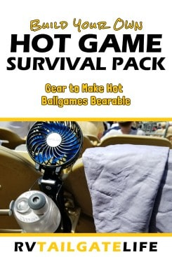 Build your own hot game survival pack for summer ballgames. Survive the heat with this gear approved by seasoned tailgaters!
