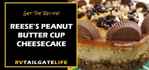 Get the recipe for the Reese's Peanut Butter Cup Cheesecake!