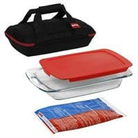 Pyrex Casserole Dish with Lid & Carrying Case
