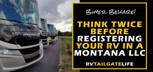 Buyer Beware! Think twice before registering your RV in a Montana LLC to avoid sales taxes