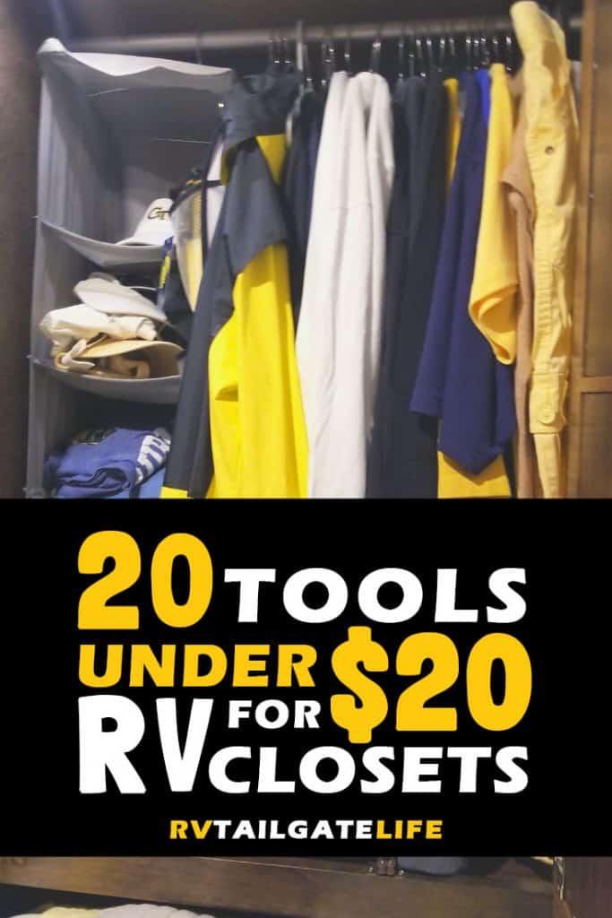 20 Tools Under $20 for RV Closet Organization