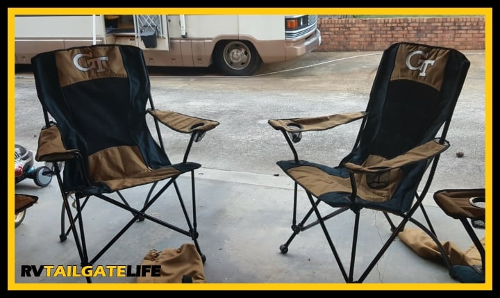 Apply Permethrin to RV camping chairs to protect from mosquitoes and other bugs this summer