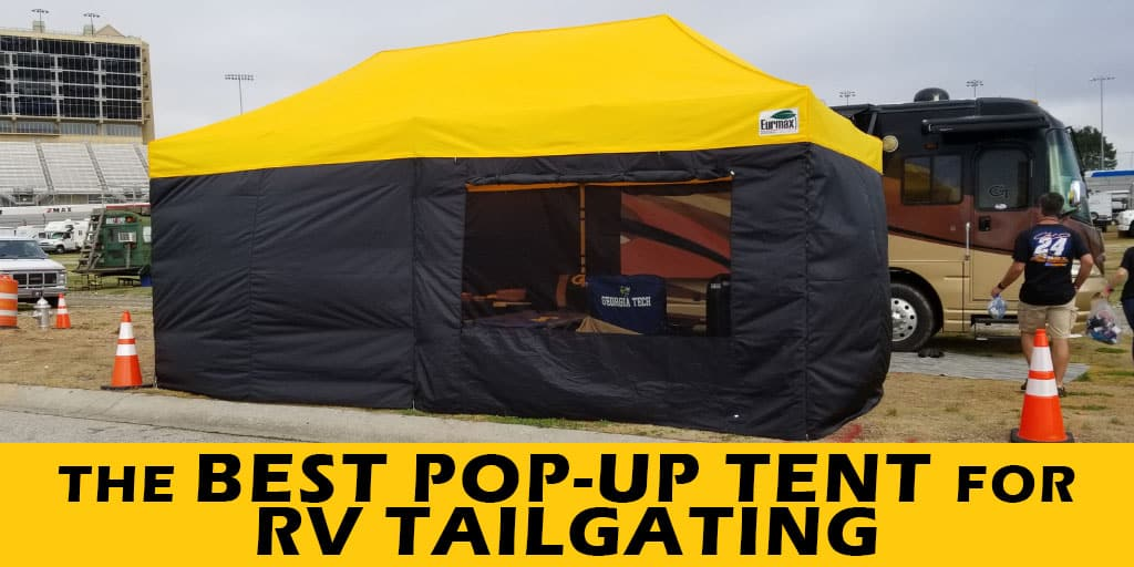 Tested at football and NASCAR tailgates, this is the best pop-up tent for RV tailgating