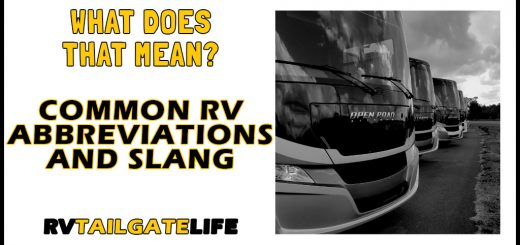 What does that mean? Common RV Abbreviations and Slang