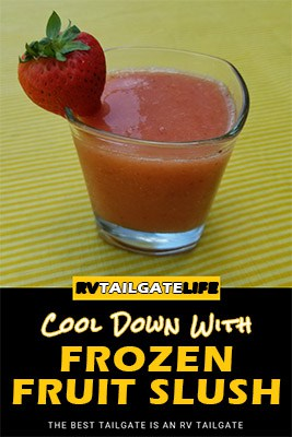 Cool Down with Frozen Fruit Slush - a perfect frozen cocktail for hot summer days