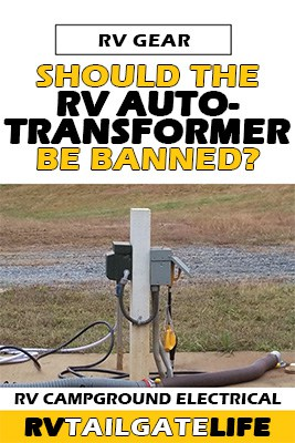 Should RV Autotransformers be banned from RV campgrounds? Picture of RV electric pedestal hookup
