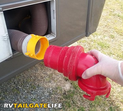 RV Sewer Hose that came with the RV Rental