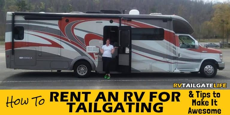 How to Rent an RV for tailgating and tips to make it awesome