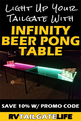 Light Up Your Tailgate with Infinity Beer Pong Table