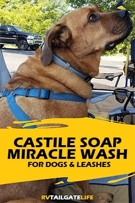Castile soap miracle wash for dogs and leashes