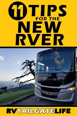 11 Tips for the New RVer with a picture of a Class A motorhome